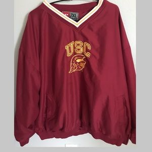 USC Trojan pullover windbreaker by Pro Player